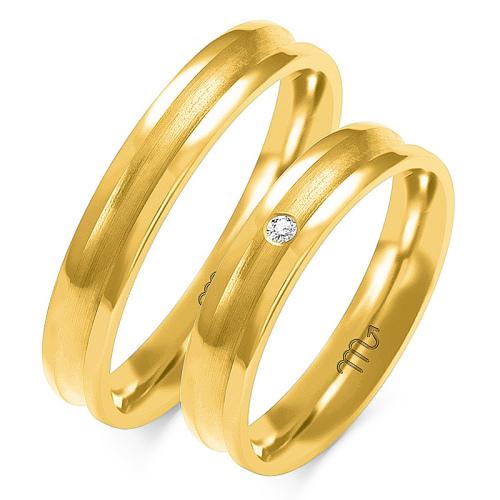 Obrączki ślubne Złoty Skorpion wzór O-89 4mm pr. 585