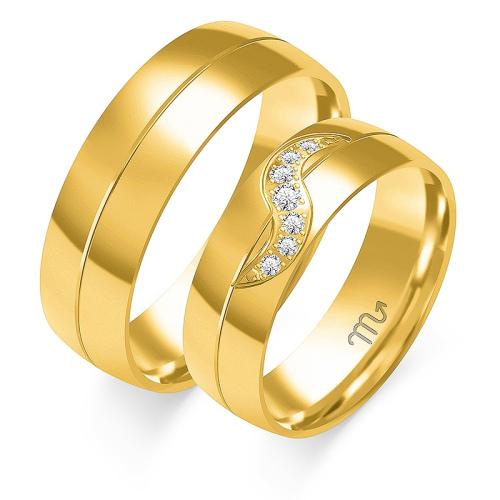 Obrączki ślubne Złoty Skorpion wzór O-68 5mm pr. 585