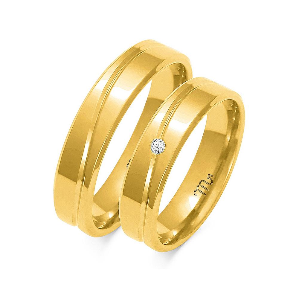 Obrączki ślubne Złoty Skorpion wzór O-64 5mm pr. 585