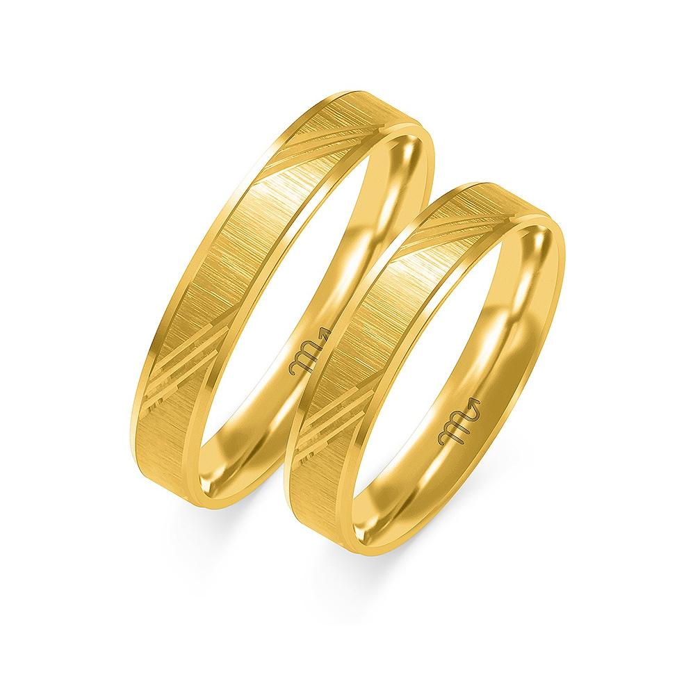 Obrączki ślubne Złoty Skorpion wzór O-59 4mm pr. 585