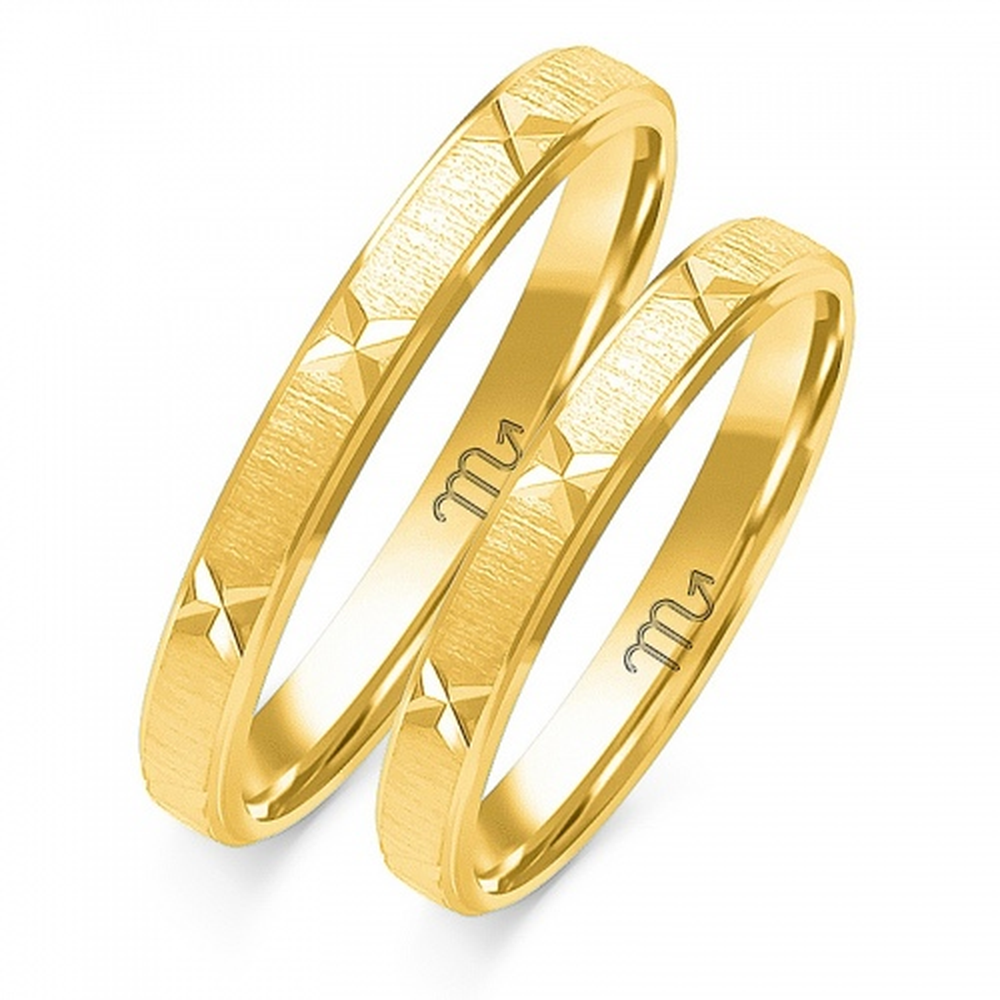 Obrączki ślubne Złoty Skorpion wzór O-36 3mm pr. 585