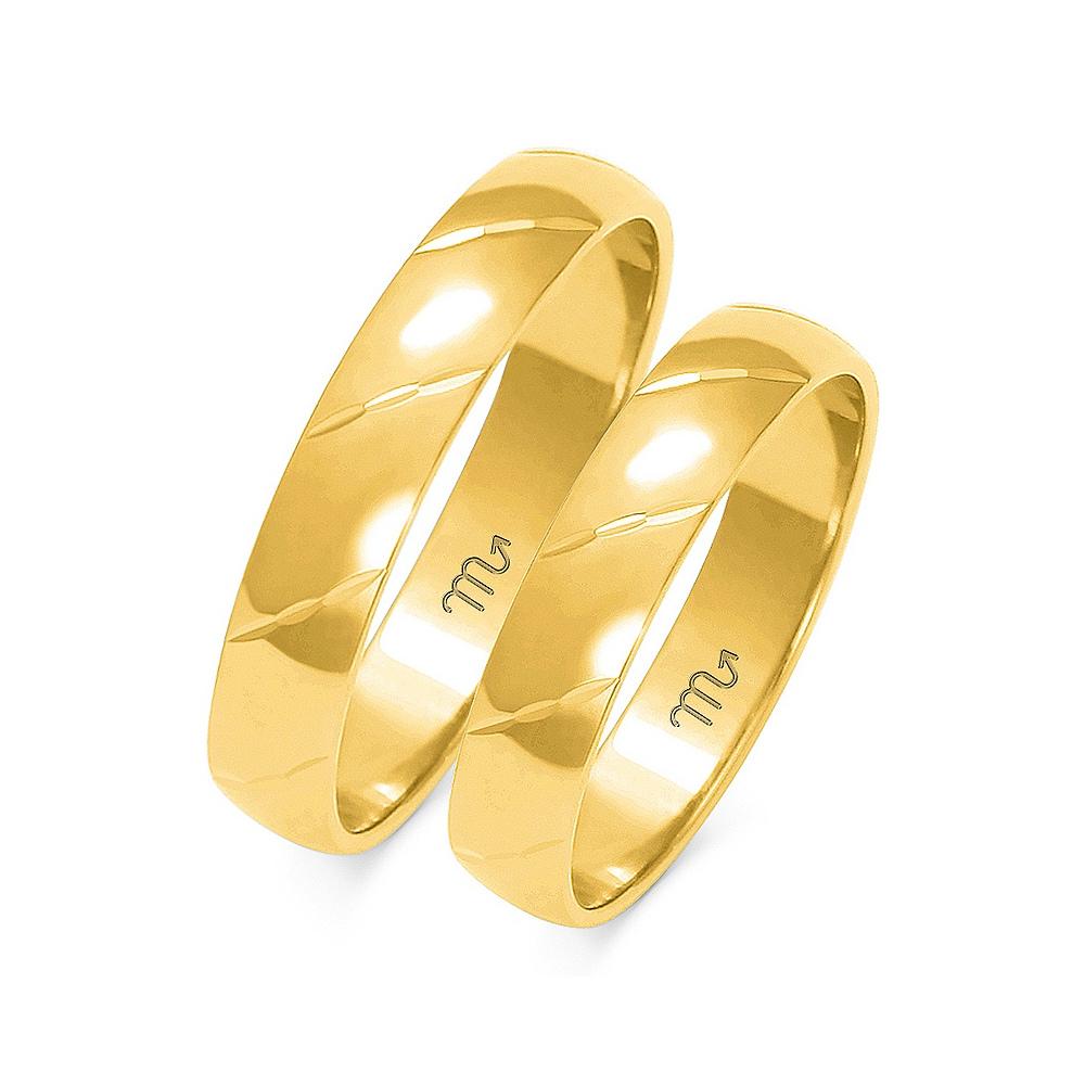 Obrączki ślubne Złoty Skorpion wzór O-24 4mm pr. 585