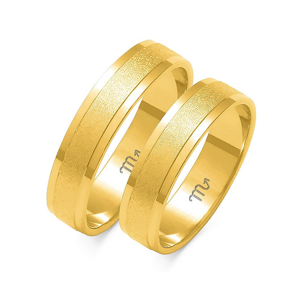 Obrączki ślubne Złoty Skorpion wzór O-16 5mm pr. 585