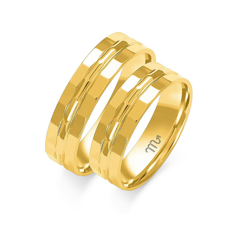 Obrączki ślubne Złoty Skorpion wzór O-14 5mm pr. 585