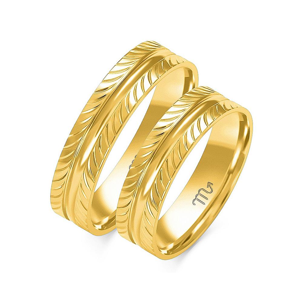Obrączki ślubne Złoty Skorpion wzór O-10 5mm pr. 585
