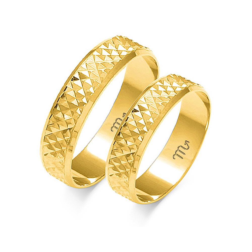 Obrączki ślubne Złoty Skorpion wzór O-7 4mm pr. 585