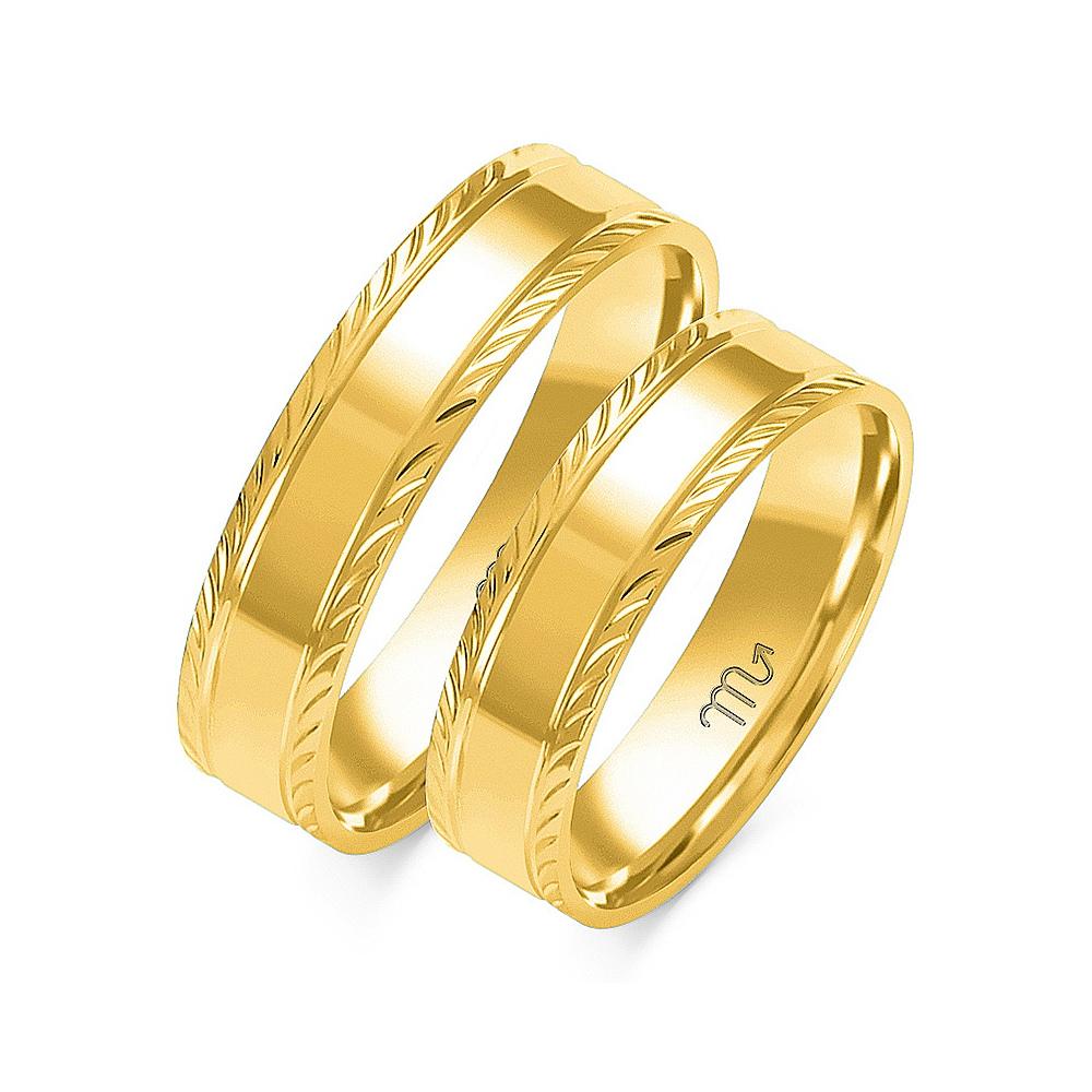 Obrączki ślubne Złoty Skorpion wzór O-6 5mm pr. 585
