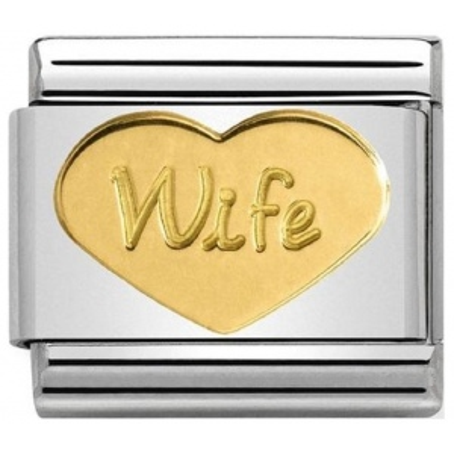 Nomination - Link 18K Gold 'Wife' 030162/42