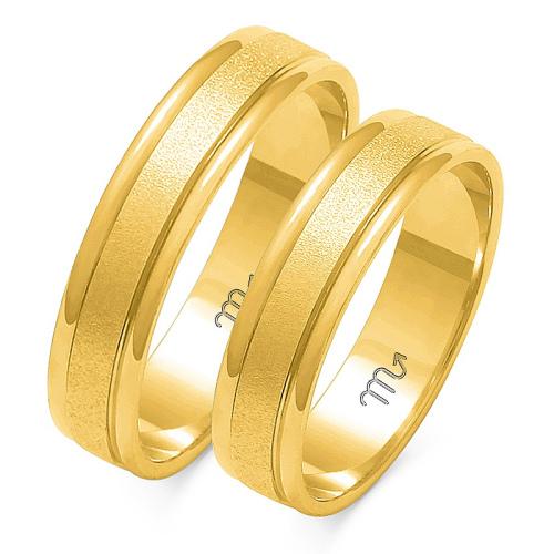 Obrączki ślubne Złoty Skorpion wzór O-4 5mm pr. 585