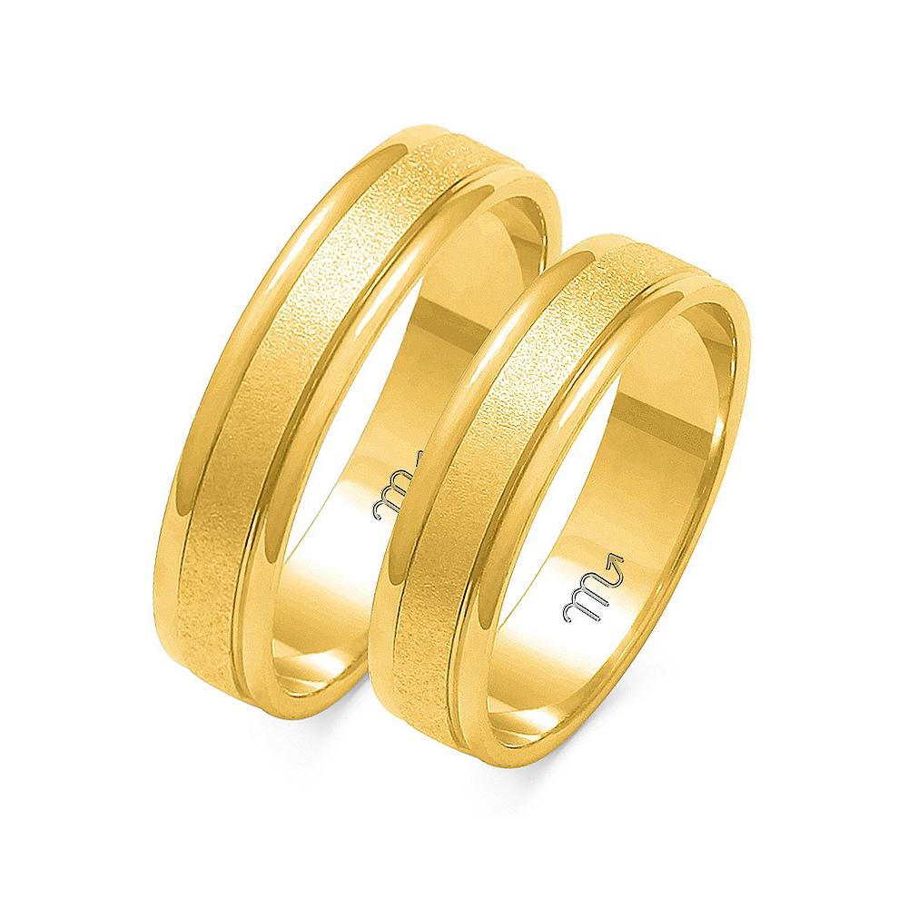 Obrączki ślubne Złoty Skorpion wzór O-7 5mm pr. 333
