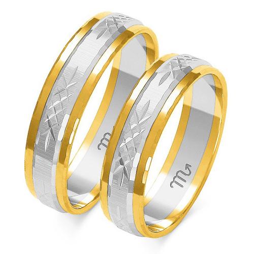 Obrączki ślubne Złoty Skorpion wzór A-211 5mm pr. 585