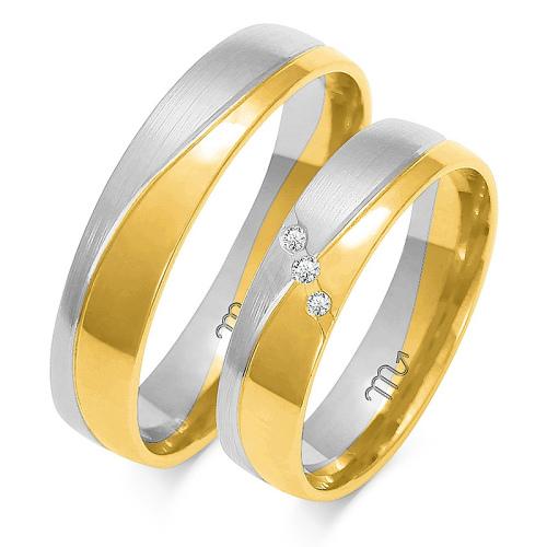 Obrączki ślubne Złoty Skorpion wzór A-215 5mm pr. 585