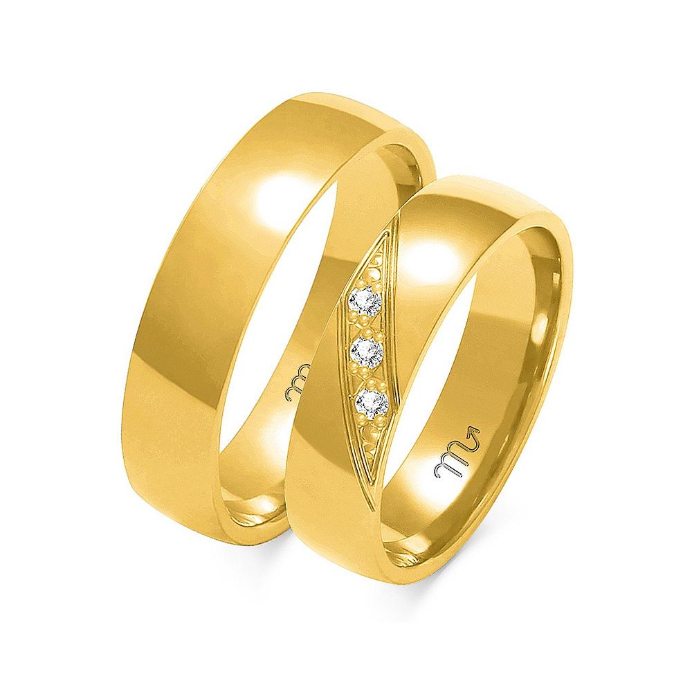 Obrączki ślubne Złoty Skorpion wzór A-160 5mm pr. 585