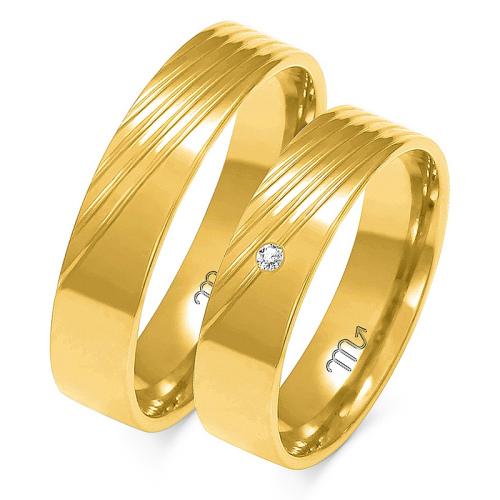 Obrączki ślubne Złoty Skorpion wzór A-159 5mm pr. 585