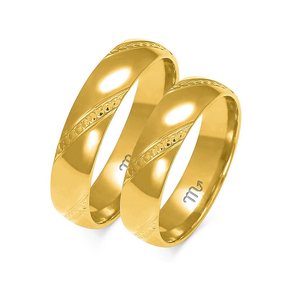Obrączki ślubne Złoty Skorpion wzór A-158 5mm pr. 585