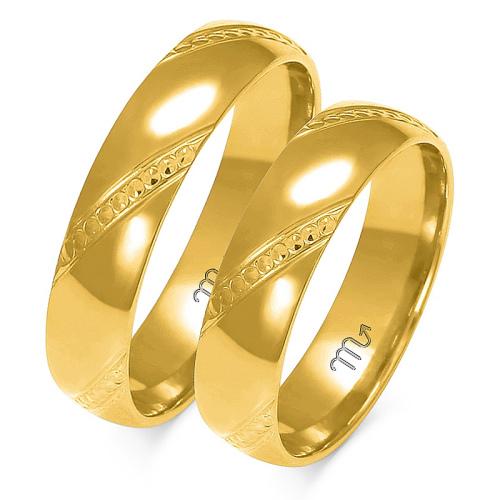 Obrączki ślubne Złoty Skorpion wzór A-158 5mm pr. 333