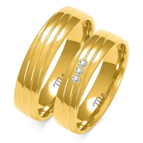 Obrączki ślubne Złoty Skorpion wzór A-154 5mm pr. 585