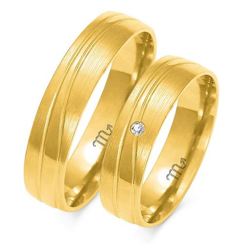 Obrączki ślubne Złoty Skorpion wzór A-149 5mm pr. 585