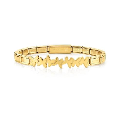 Bransoletka Nomination Trendsetter Gold - Motylki 021111/003