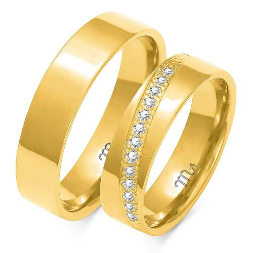 Obrączki ślubne Złoty Skorpion wzór A-1455mm pr. 585