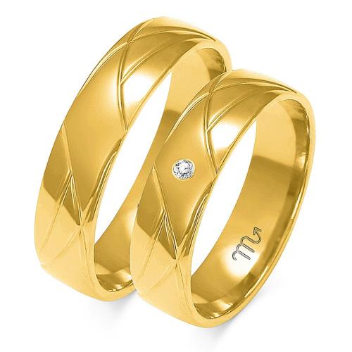 Obrączki ślubne Złoty Skorpion wzór A-144 5mm pr. 585