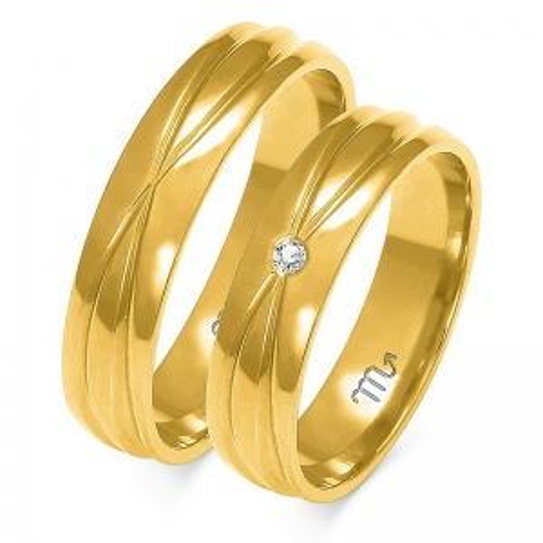 Obrączki ślubne Złoty Skorpion wzór A-143 5mm pr. 585