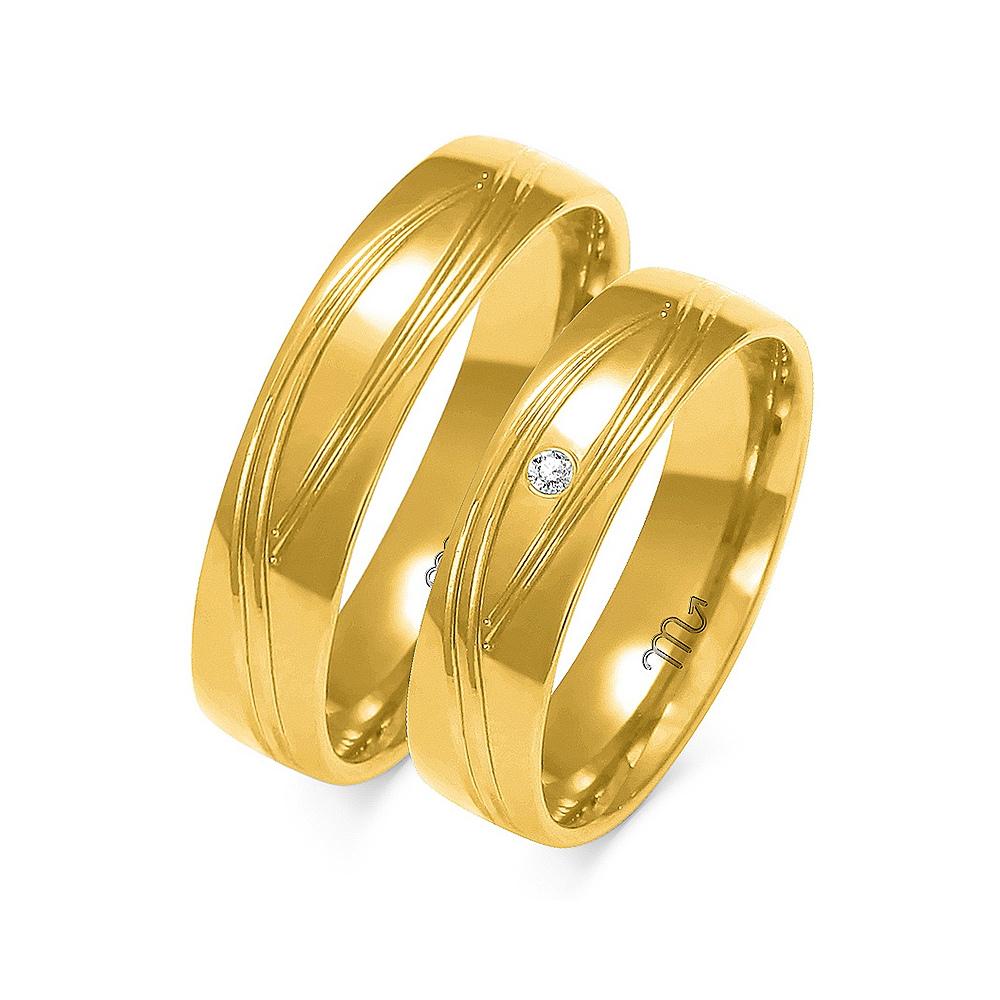 Obrączki ślubne Złoty Skorpion wzór A-142 5mm pr. 585