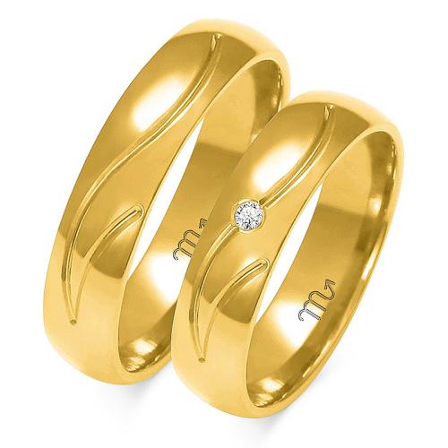 Obrączki ślubne Złoty Skorpion wzór A-140 5mm pr. 585