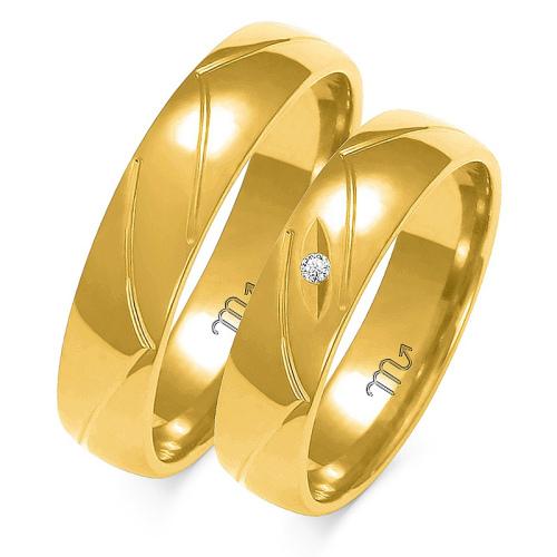 Obrączki ślubne Złoty Skorpion wzór A-138 5mm pr. 333