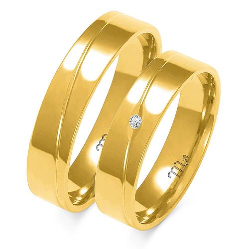 Obrączki ślubne Złoty Skorpion wzór A-136 5mm pr. 585