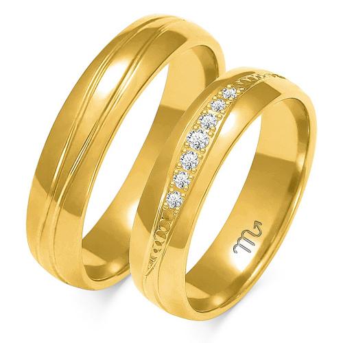 Obrączki ślubne Złoty Skorpion wzór A-131 5mm pr. 585
