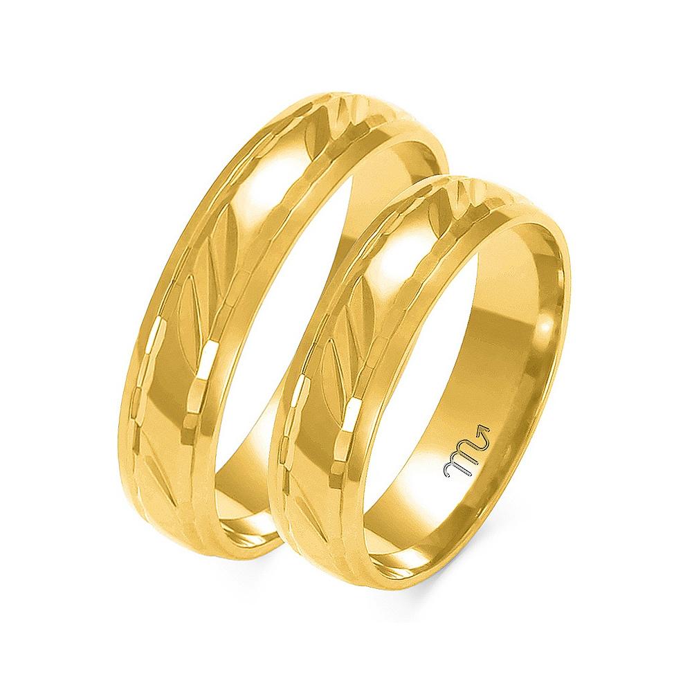 Obrączki ślubne Złoty Skorpion wzór A-129 5mm pr. 585