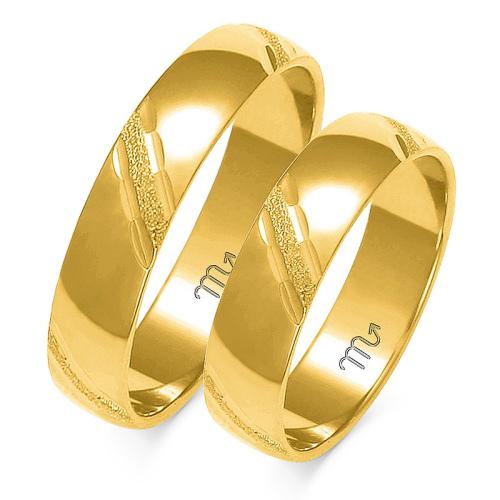 Obrączki ślubne Złoty Skorpion wzór A-127 5mm pr. 585