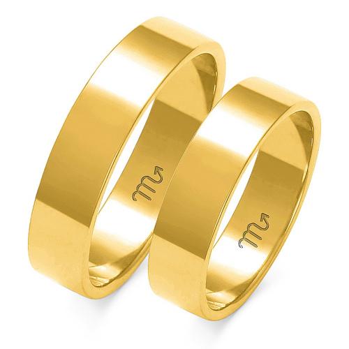 Obrączki ślubne Złoty Skorpion wzór A-113 5mm pr. 585