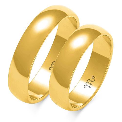 Obrączki ślubne Złoty Skorpion wzór A-103 5mm pr. 585