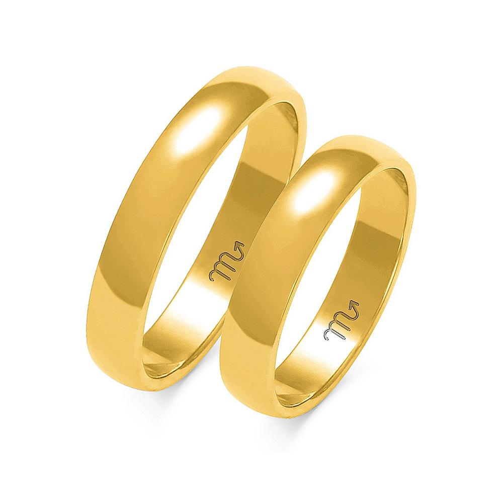 Obrączki ślubne Złoty Skorpion wzór A-102