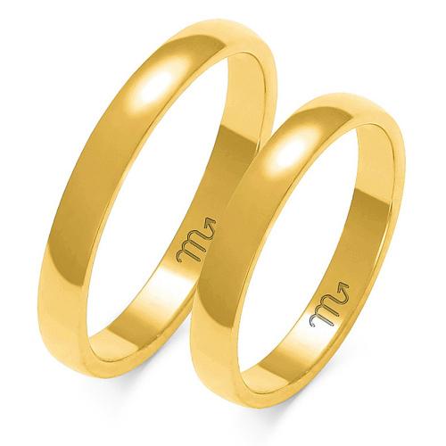 Obrączki ślubne Złoty Skorpion wzór A-101