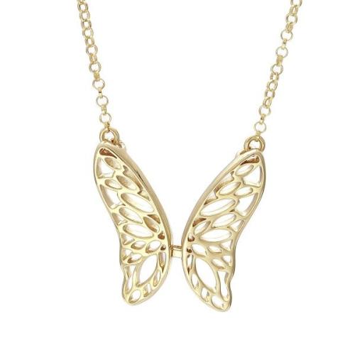 Srebrny Naszyjnik Pozłacany pr. 925 - Motyl
