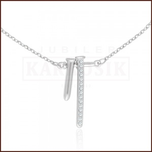 Srebrny Naszyjnik Celebrytka z Cyrkoniami - Pręciki pr.925
