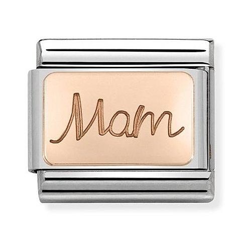 Nomination -  Link 9K Rose Gold 'Mam' 430108/03