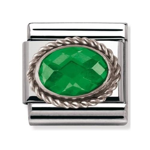 Nomination - Link Silver 925 'Zielony Agat' 030606/027