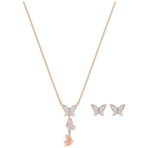 Zestaw SWAROVSKI - Lilia Set, White, Rose gold plating 5382365