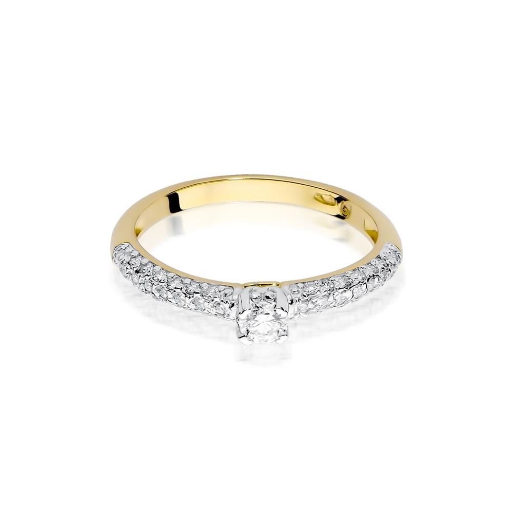 Pierścionek zaręczynowy 585 złoto z brylantami 0,36ct