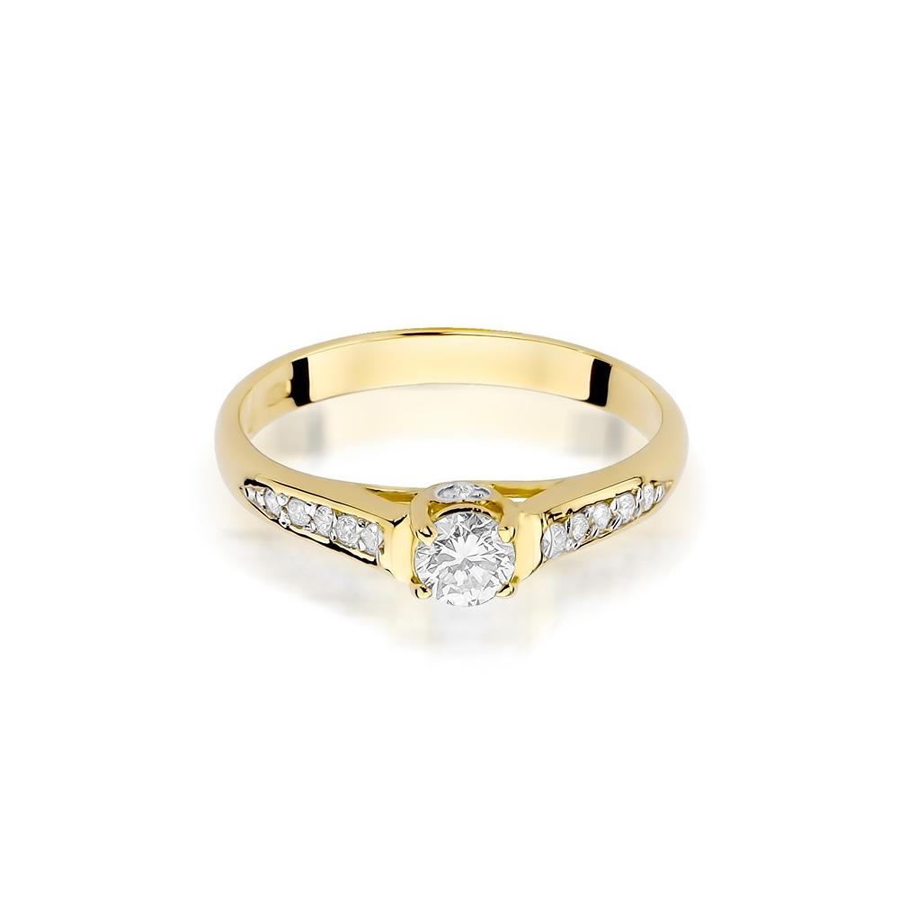 Pierścionek zaręczynowy 585 złoto z brylantami 0,33ct