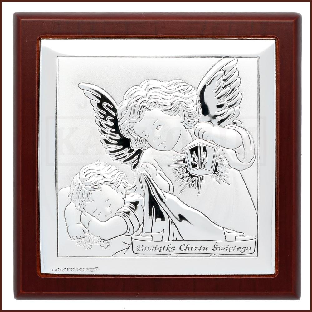 Srebrny Obrazek Pamiatka Chrztu Swietego Obel6430 2wm Jubiler