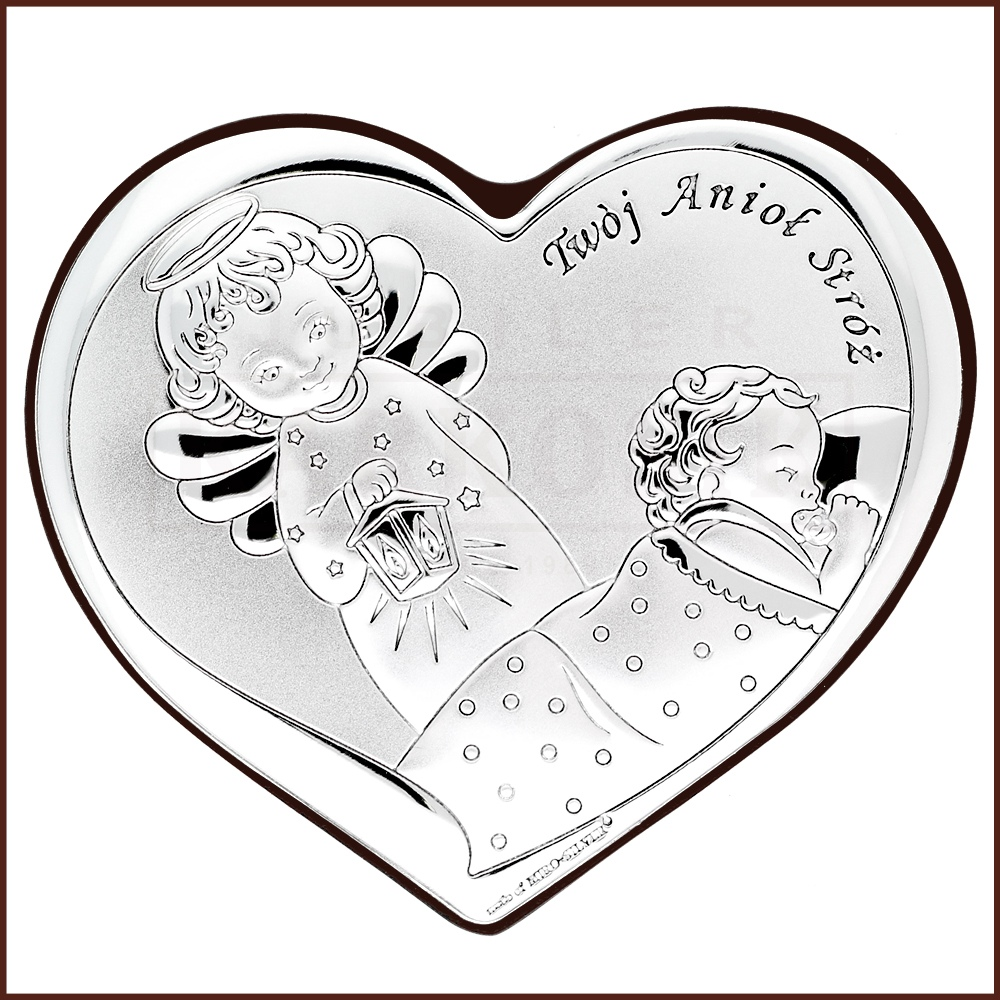 Obrazek Srebrny Aniolek Z Latarenka Pamiatka Chrztu Swietego