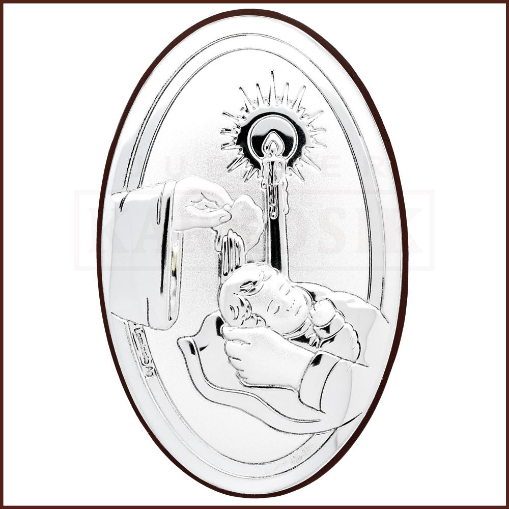 Srebrny Obrazek Pamiatka Chrztu Swietego Obel6318 2 Jubiler