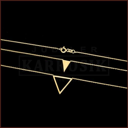 Złoty Naszyjnik Celebrytka - Trójkąty pr.333
