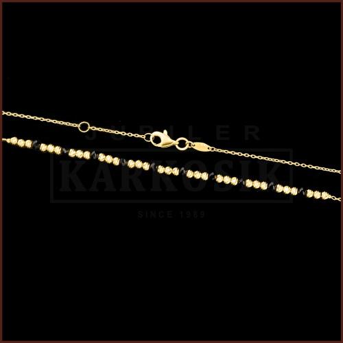 Złoty Naszyjnik Celebrytka - Fasetowane Kryształki pr.333