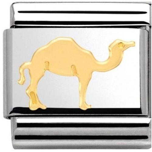 Nomination - Link 18K Gold 'Wielbłąd' 030112/34
